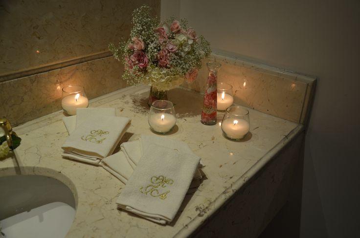 decoración baño damas