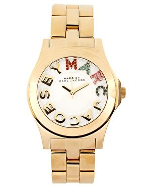 Enlarge Marc By Marc Jacobs Gold Bracelet With Multi Colour Dial Watch