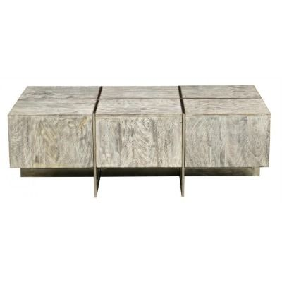 This Contemporary Desmond Coffee Table Features A Rectangular Design With A Lime  Wash Finish. Supported