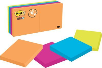 """Shop Staples for Post-it® Super Sticky Notes, Rio de Janeiro Collection, 2"""" x 2"""", 90 Sheets/Pad, 8/Pack"""