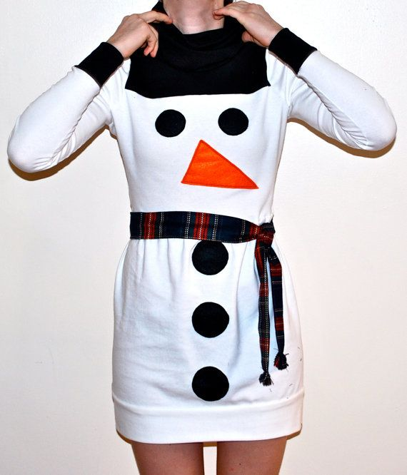 Women Christmas Snowman Dress! i so need to remember this for next christmas!!!, also on Fridge