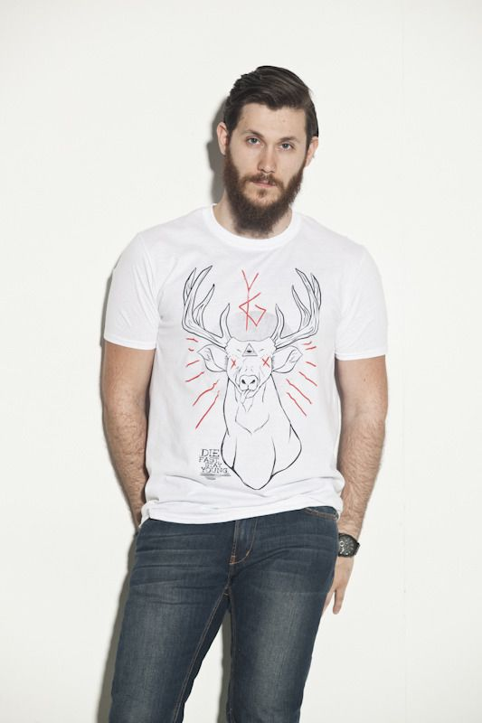 the Deer God white tee by Young Ghosts