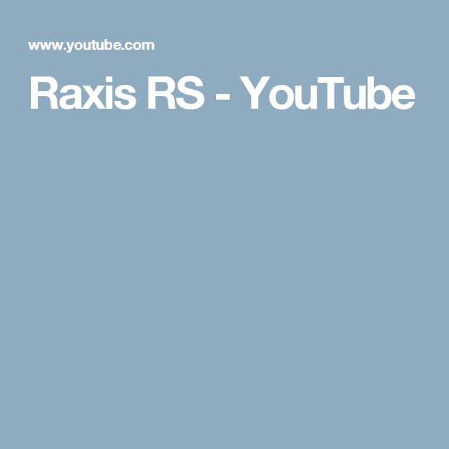 Raxis RS  - YouTube