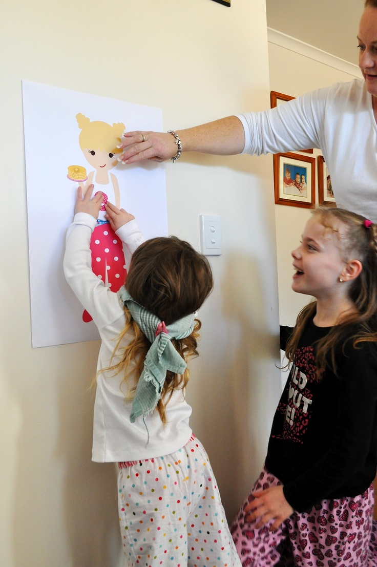 "Pancakes and Pajamas party game. Pin the number on the pajamas!    Mother Duck Said: ""Lets Party!"": Pancakes and Pajamas Party"