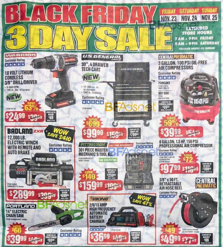 Harbor Freight Black Friday 2018 Ad Scan, Deals and Sales