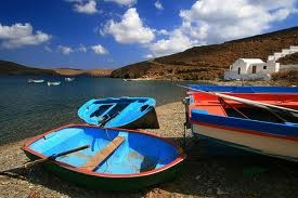 Dodecannese, colourful boat in Astypalaia