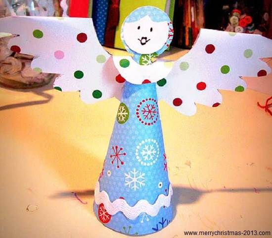 Christmas Angels Crafts for Kids to Make | Merry Christmas 2013 Quotes, Sayings, Pictures, Cards, Gifts Ideas