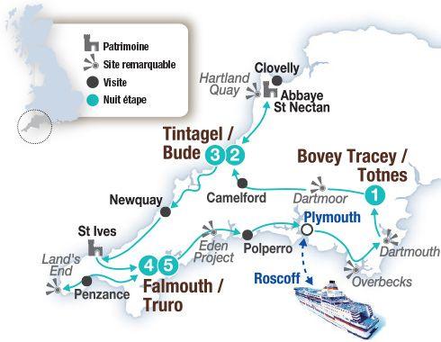 Circuit voiture en Angleterre, le grand tour des Cornouailles - Brittany Ferries