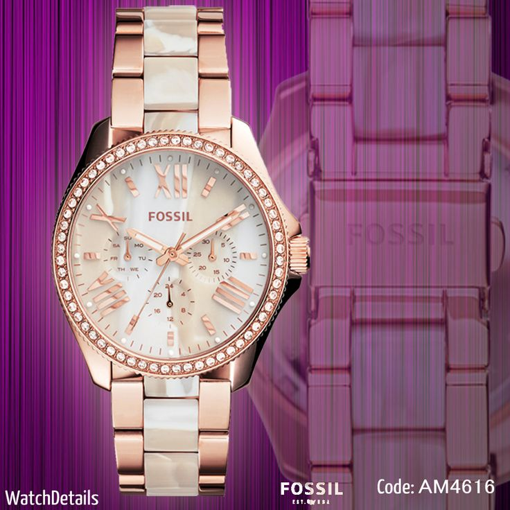 Check Now Cecile Three-Hand Stainless Steel Watch - Rose With Horn Acetate http://goo.gl/dmN4bg by: #WatchDetails #fashion #style #women #watches