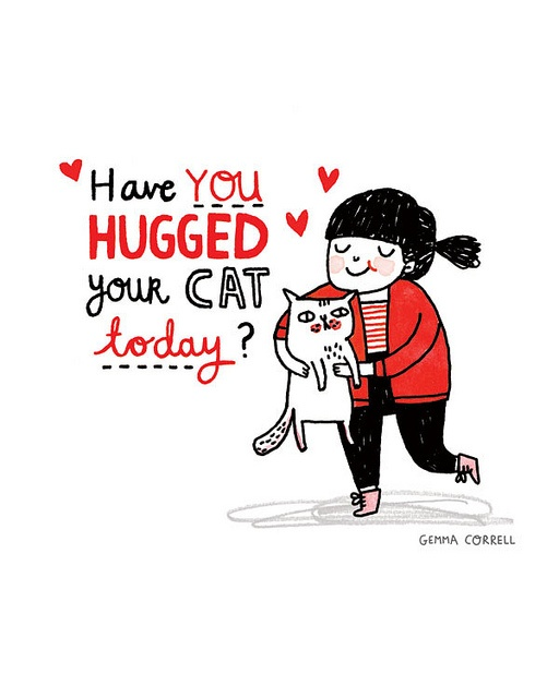 have you hugged your cat today? by gemma correll