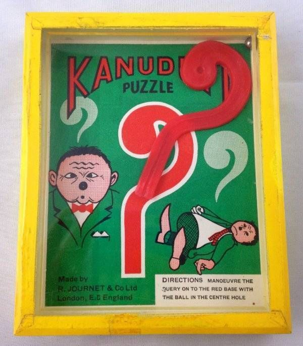 Vintage Kanudoit Puzzle Game Hand Held Dexterity R Journet & Co London