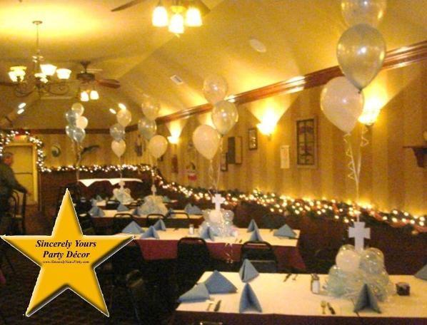 Triad Christening centerpieces winston salem greensboro balloon decor