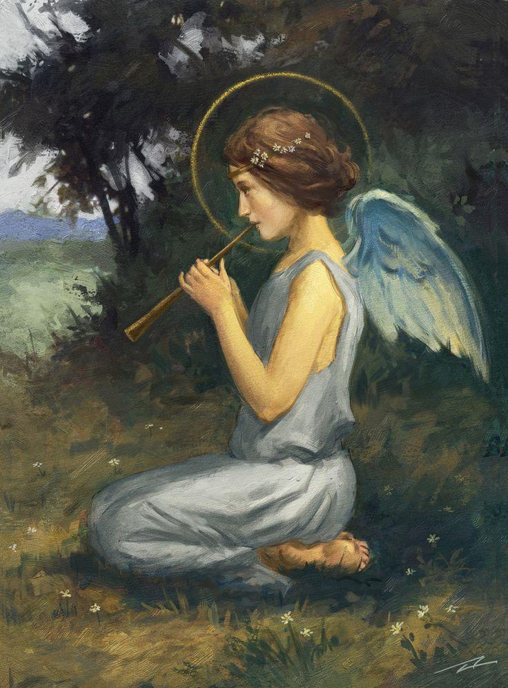Alan lathwell advocate art angel art angel painting art