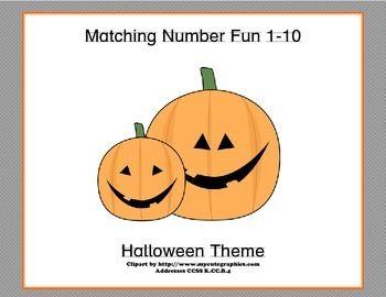 Matching Images >> Matching Numbers 1-10 Halloween Theme | Math Teaching Ideas | Pinterest | Halloween images ...
