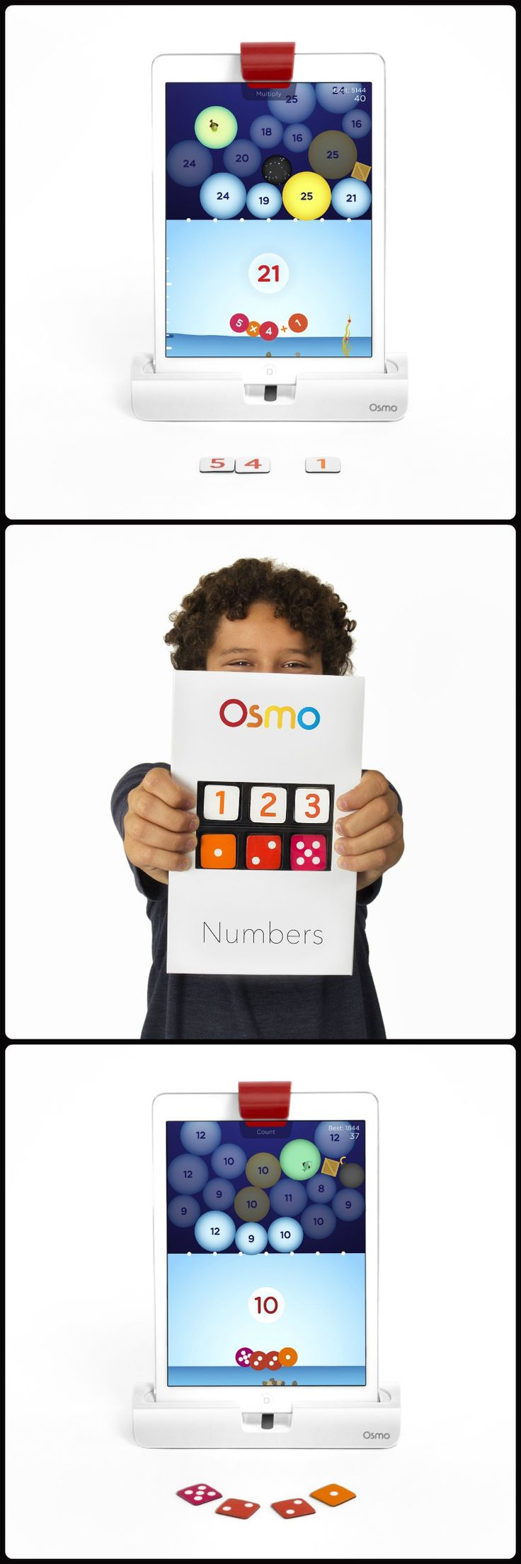 "I am not a big fan of math, but I thought Osmo was incredible!  This allows students to ""play"" with math.  They can solve puzzles and equations through physical demonstrations and by playing games."