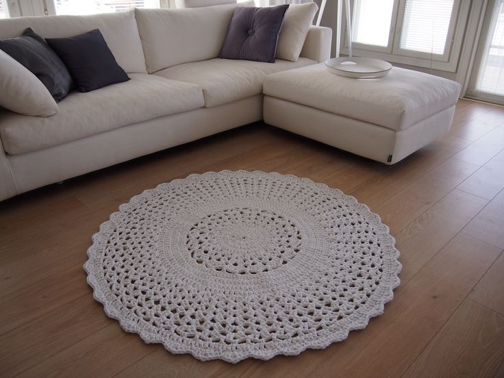 crochet carpet white By Halla COLLECTION