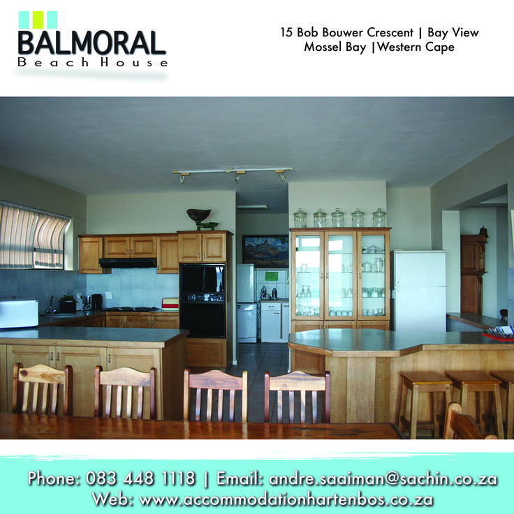 Come and enjoy this lovely kitchen at Balmoral Beach House. Call us at: 083 448 1118 E-Mail: andre.saaiman@sachin.co.za #accommodation #Hartenbos #Kitchen