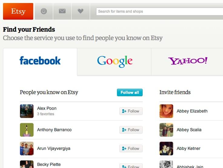 Etsy's friend finder