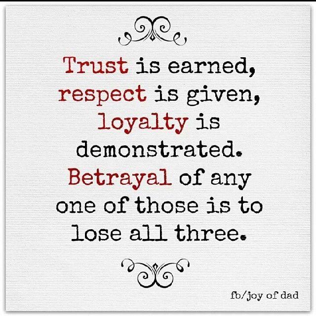 Love loyalty & respect