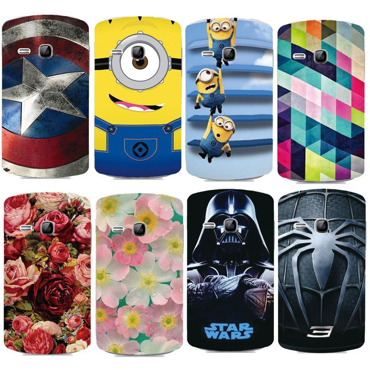 Beautiful Plastic Printed Cartoon Phone Case For Samsung Galaxy Young Duos S6310 S6312 S6313 Cover Printing Drawin Phone Cases