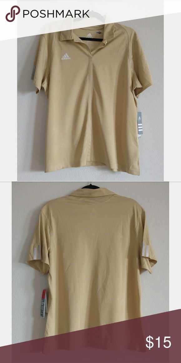 NWT Adidas Climacool Light Mustard Shirt Collared Shirt with tags still attached. Climacool and a cute light mustard color. adidas Tops Tees - Short Sleeve