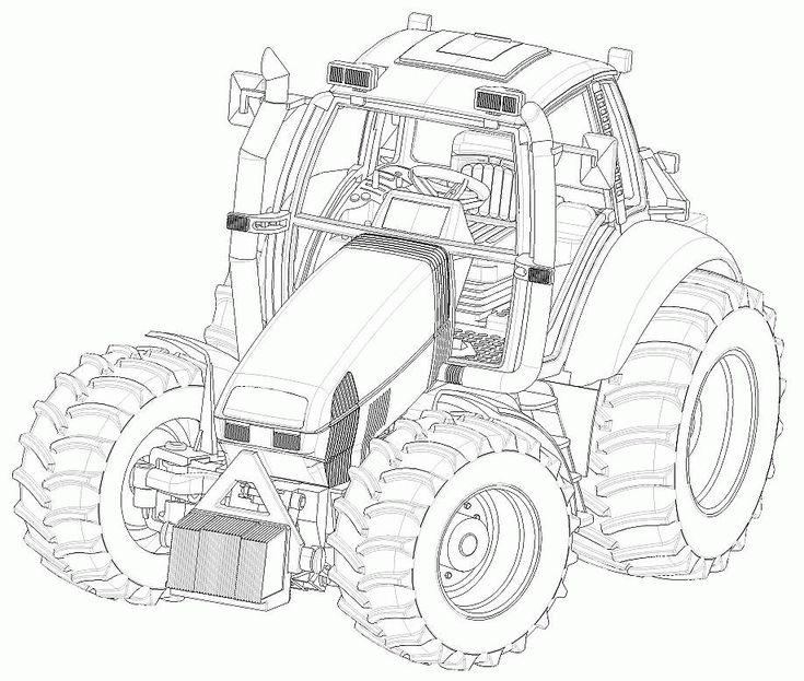 tracteur002 gif 918 215 778 pixels kleurplaten