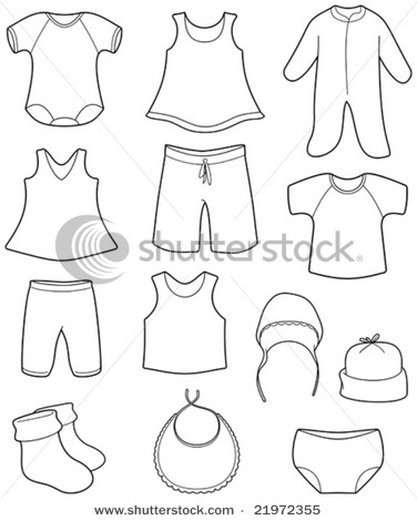 Vector Ilration Children S Clothes My Wishlist Baby Shower Clipart Quilt Dress