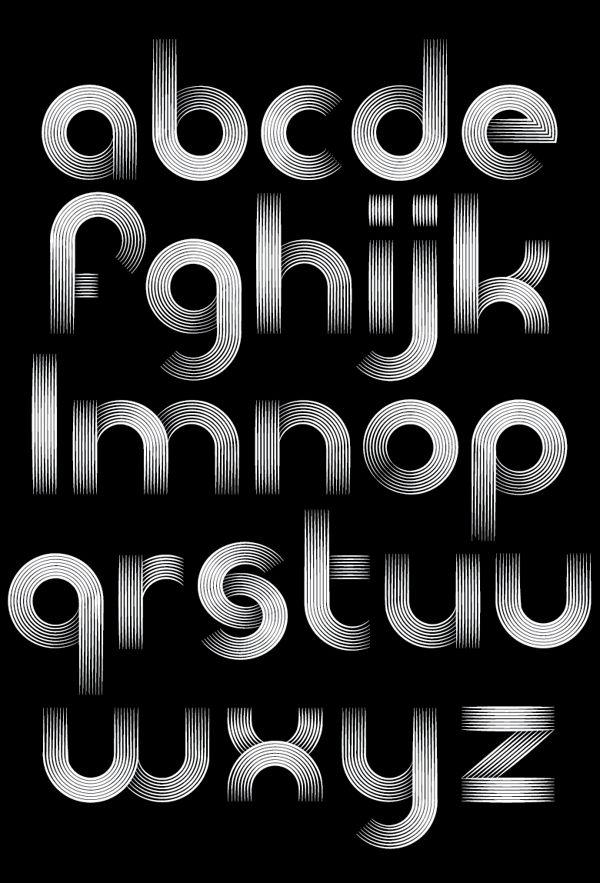 The Record Company Font by Patrick Seymour, via Behance