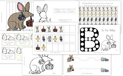 Easter Bilby Printable pack