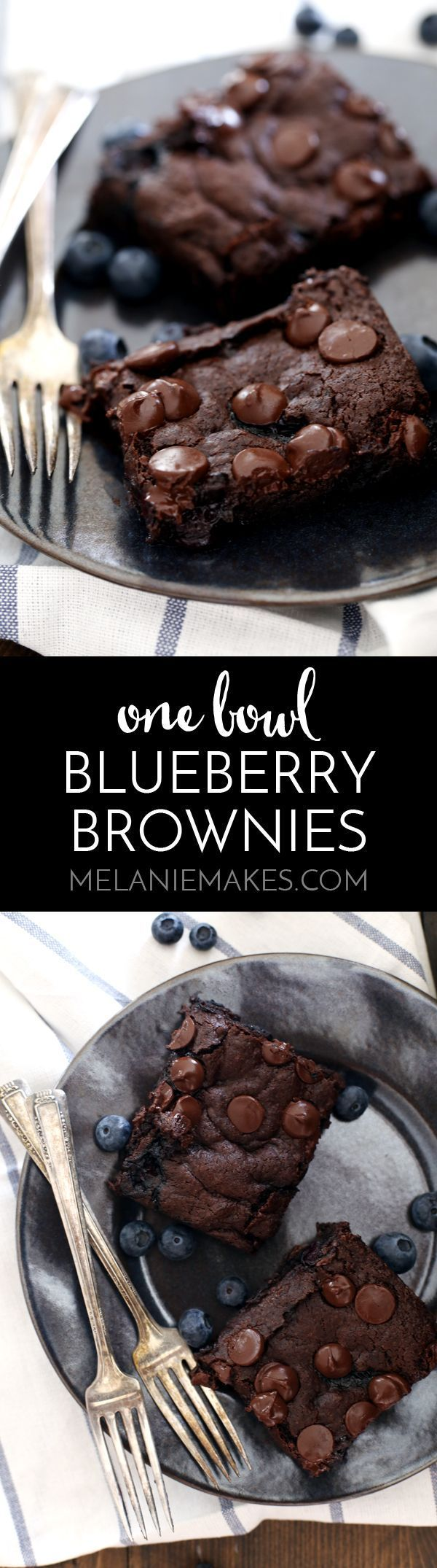 These One Bowl Blueberry Brownies come together in one bowl, just as their name implies, making clean-up a breeze! A pint of blueberries…