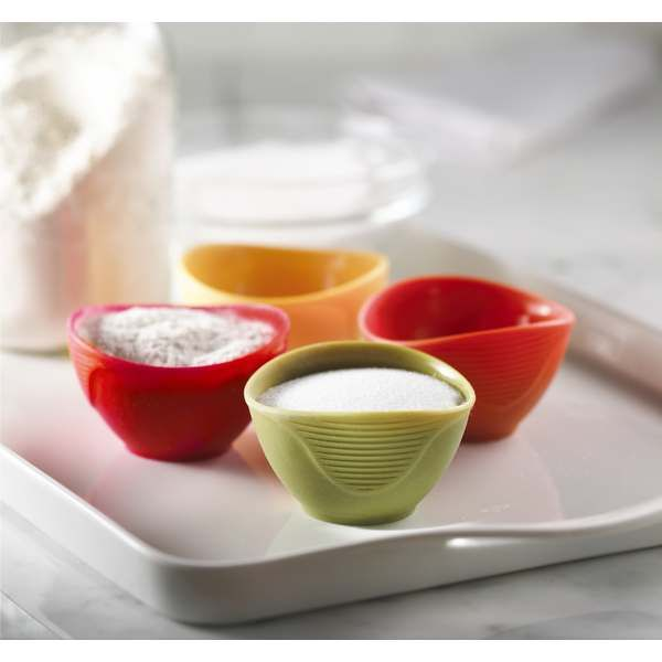 Набор силиконовых мисочек Silicone Pinch Bowls