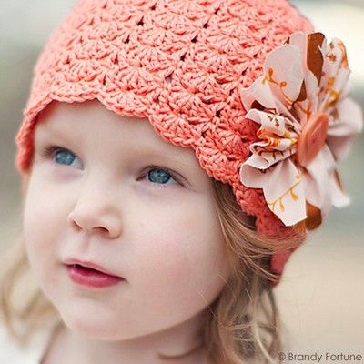 "Original pinner said, ""Little Sister hat designed by Linda Permann, crocheted in Cascade Yarns Ultra Pima. Available in sizes baby to adult. Free Pattern!"" #free #pattern #crochet"