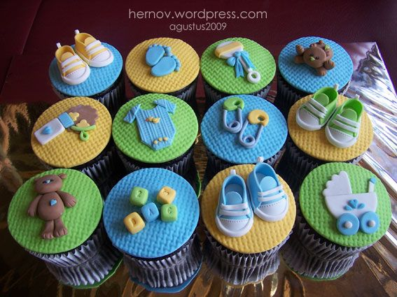 Baby Boy Cupcakes. Again with the cupcakes, I know. But these are possibly my favorites of the bunch. The amount of detail in the decorations as well as the ...