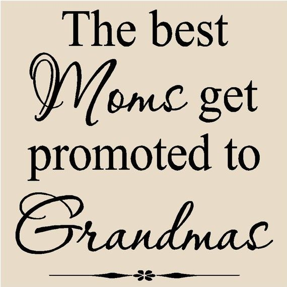 The best Moms get promoted to Grandmas #Sticker #Moms #Grandmas