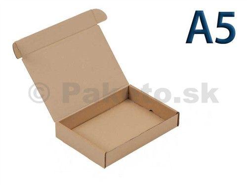 Krabica z trojvrstvového kartónu 220x160x90 pre tlačoviny A5