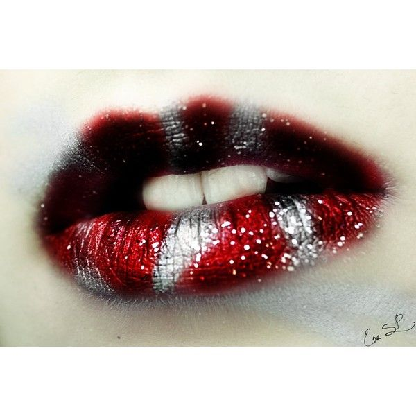 From 'Harry Potter' To 'Game Of Thrones' - These Lip Art Designs Will... ❤ liked on Polyvore featuring lips