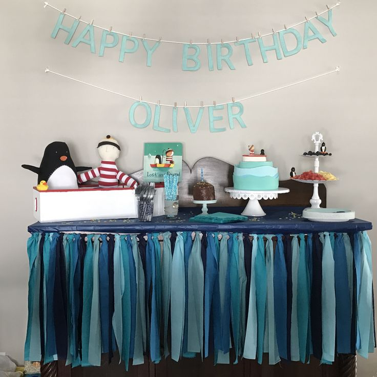Lost and Found first birthday party @oliverjeffersstuff