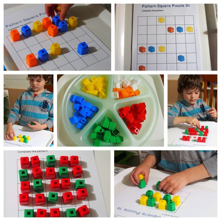 Unifix Cubes Print & Play Patterning Learning Centers « United Teaching