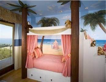 Tropical kids room.