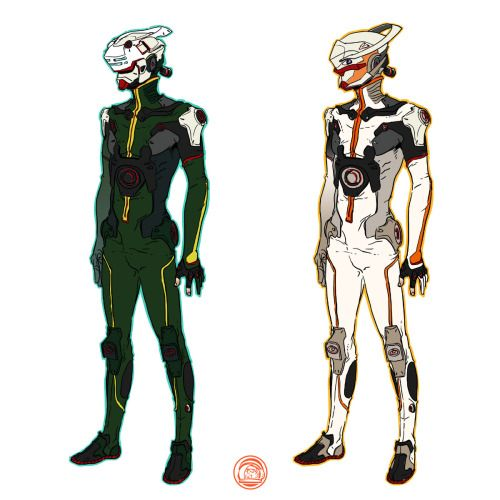 DEPOT 977 - Mecha design studios about sci-fi suit and helmet...