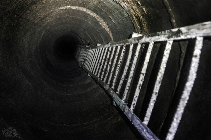 """""""Alright, who wants to climb down the dark hole first?"""""""