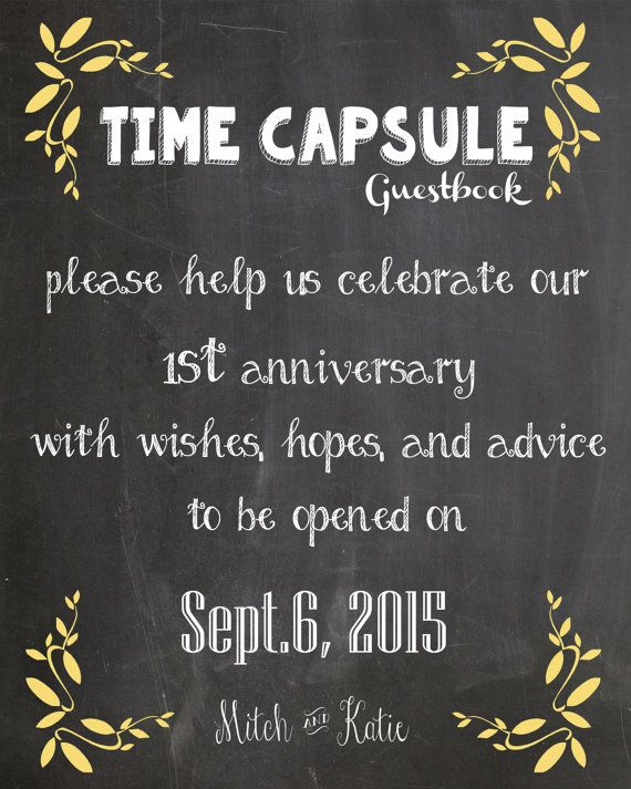 Wedding guestbook time capsule                                                                                                                                                      More