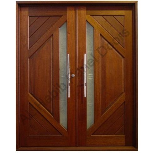 Solid Diyar Wood Double Door Hpd419 Main Doors Al