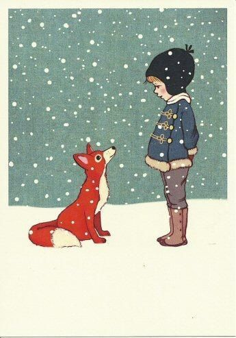 "Belle & Boo 'Hello Mr Fox' Card £2.50. Signed art print by Mandy Sutcliffe 10""x10"".£25. Lovely."