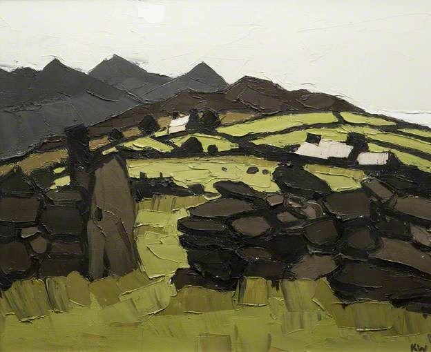 Cottages, Cilgwyn - Kyffin Williams
