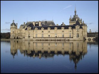 "Chateau Chantilly - train ride from Paris,  James Bond movie ""A View to a Kill"" filmed here.  Has art museum withworks by Memling, Van Dyck, Botticelli, Poussin, Watteau, Ingres, Delacroix, Corot, Fra Angelico, Rubens, Vernet, and more."