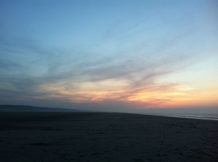 Lieblingsfleck Juist  Sonnenuntergang am Endlos-Strand