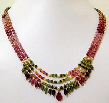 Tourmaline Necklace by anushruti for $174.99