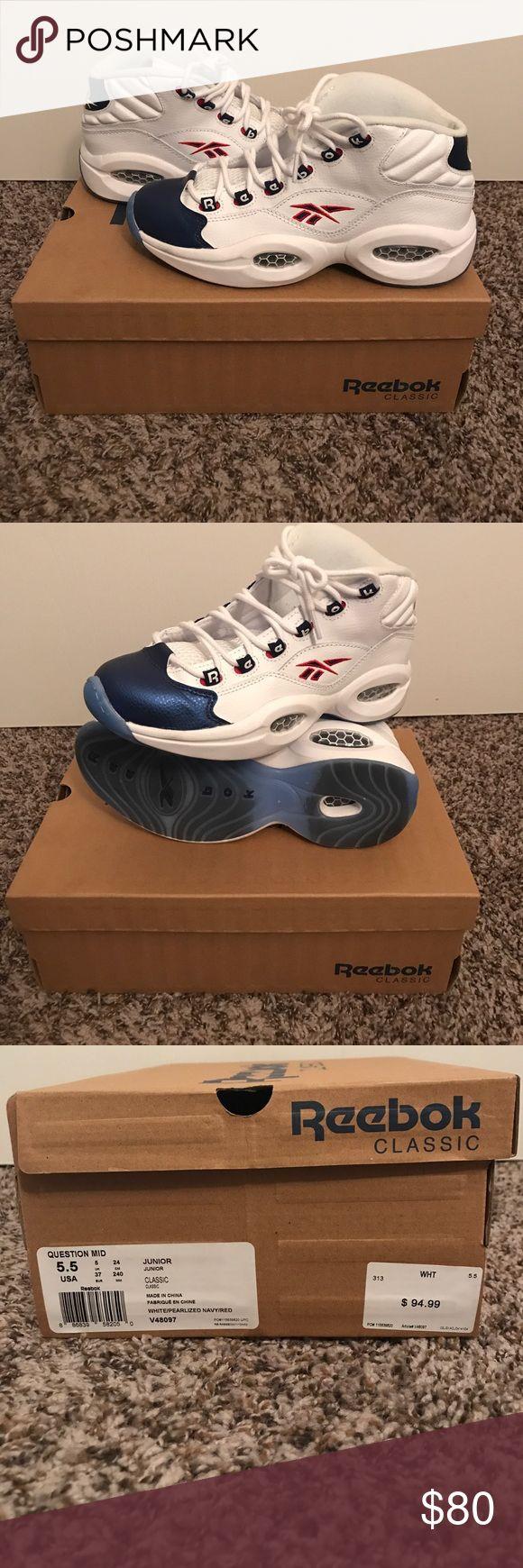 Reebok Allen Iverson Question Mid Reebok Question Mid. Allen Iverson sneaker. Size 5.5. Work no more than 5 times. Reebok Shoes Sneakers