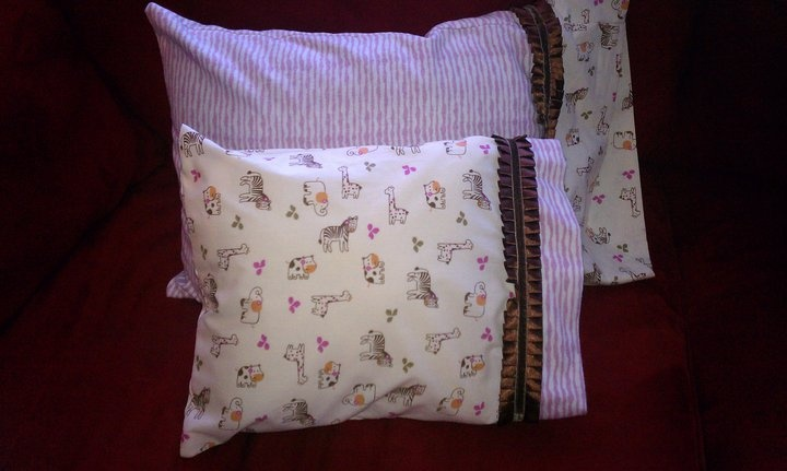 Homemade Pillows and Pillow Case for a friend's baby shower gift for daughter in law